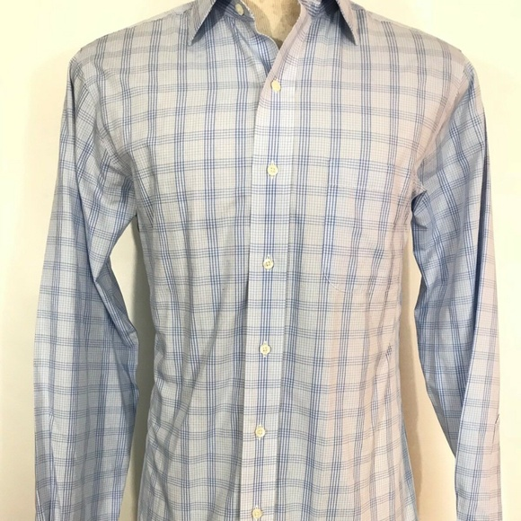 Brooks Brothers 14 1/2 1818 Non-iron Plaid C1